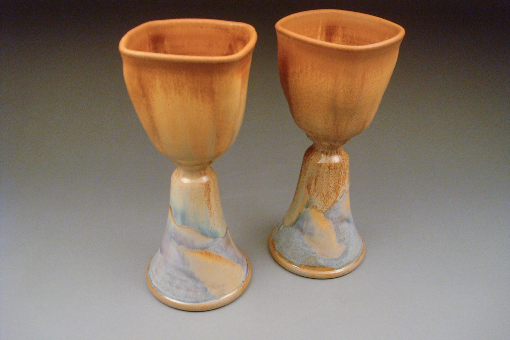 Goblet Set in Cin Opal
