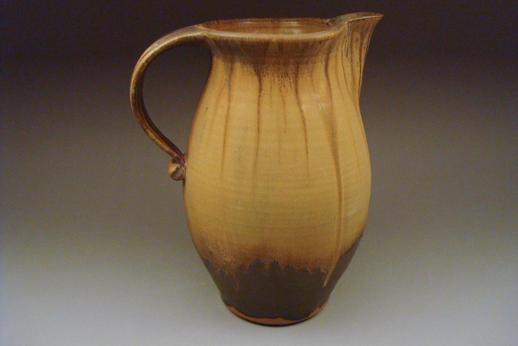 Pitcher in Black Gold